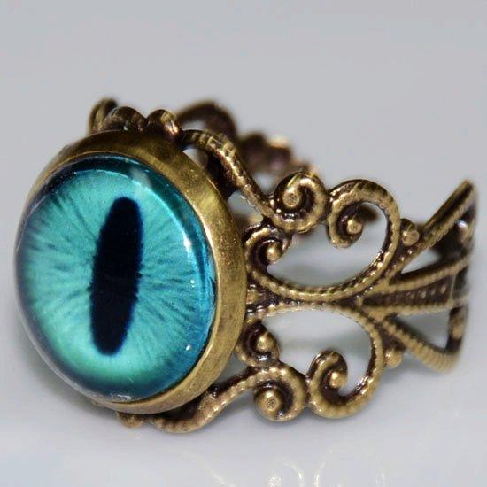 mavi göz yüzük modeli