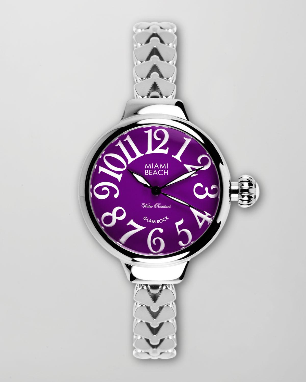 miami beach tasarım metal saat modeli