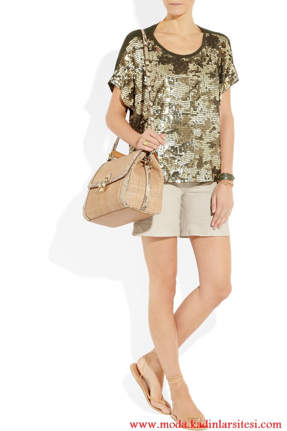 michael kors payetli bluz modeli
