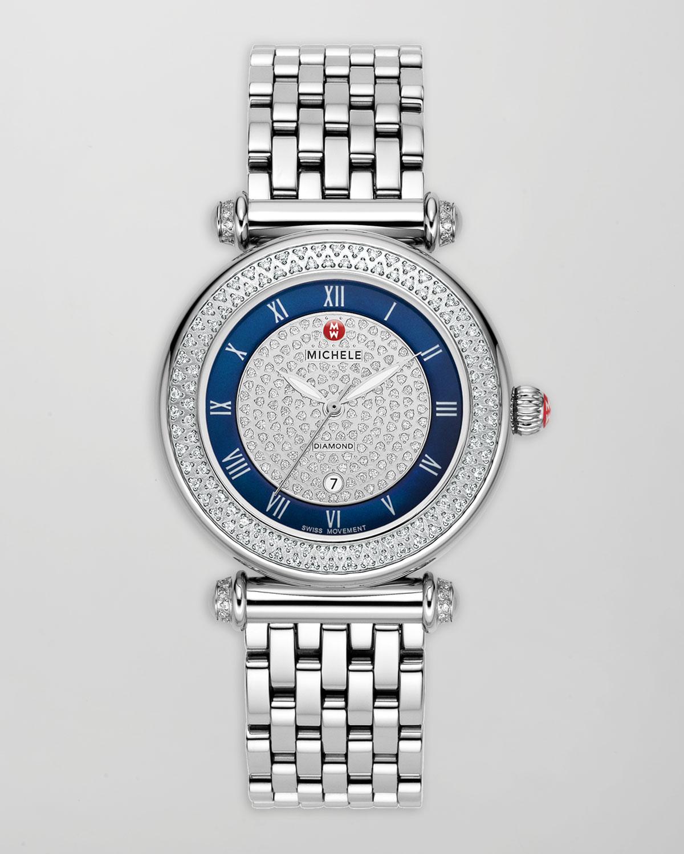 michele tasarım taşlı saat modeli