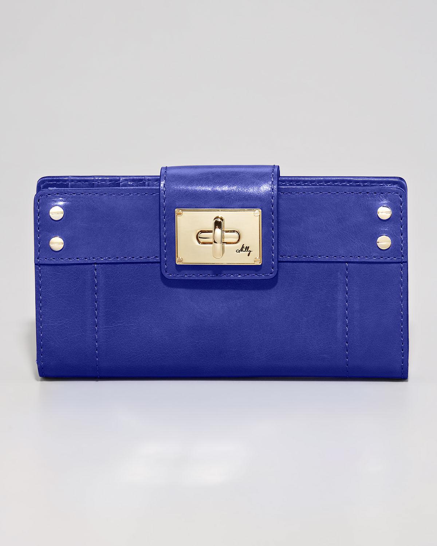 milly tasarım mavi cüzdan modeli
