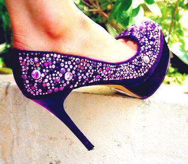 mor taşlı ayakkabı modeli yeni