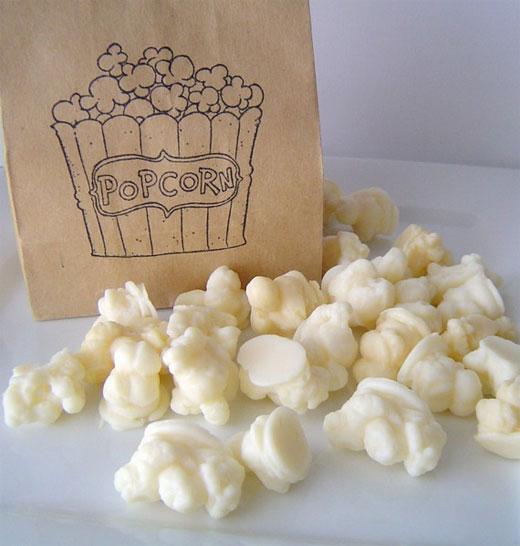 patlamış mısır şeklinde sabun modeli