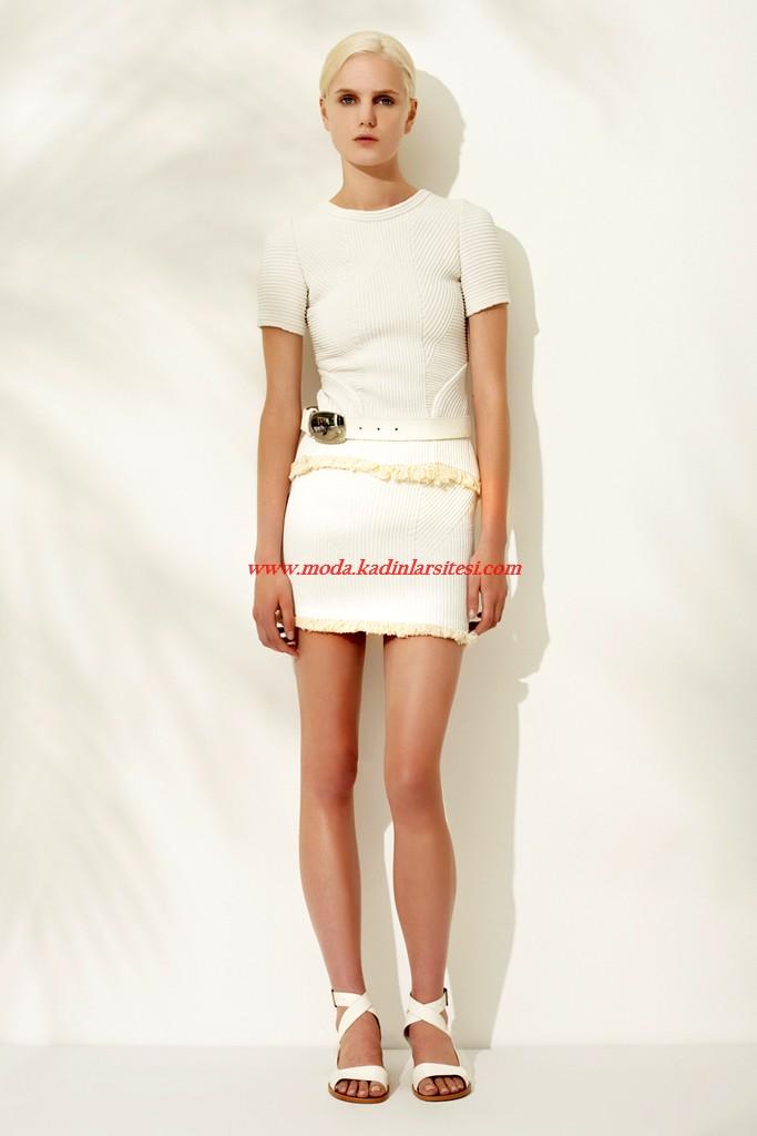 phillip lim beyaz mini elbise modeli
