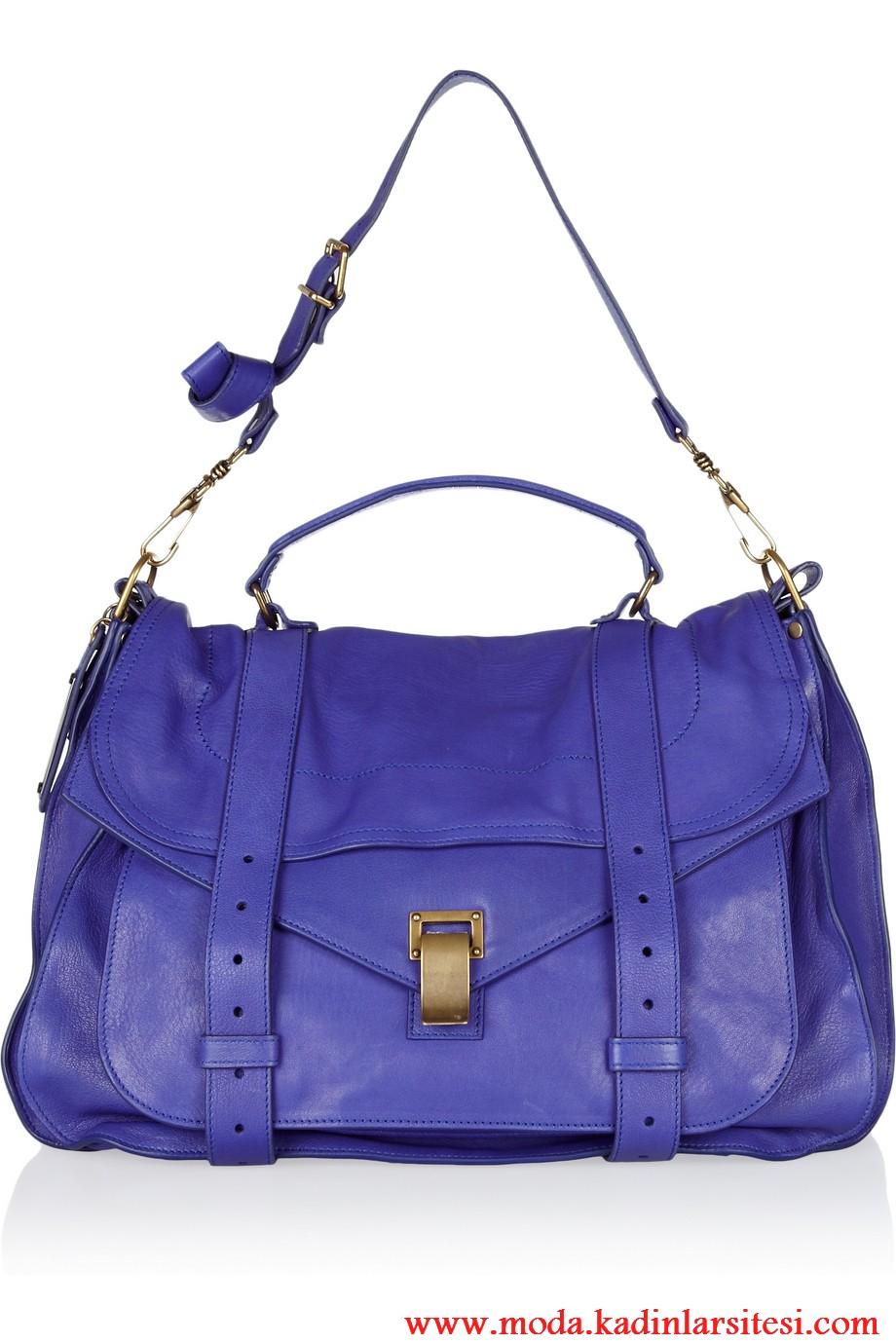 porenza schouler eflatun omuz çantası modeli