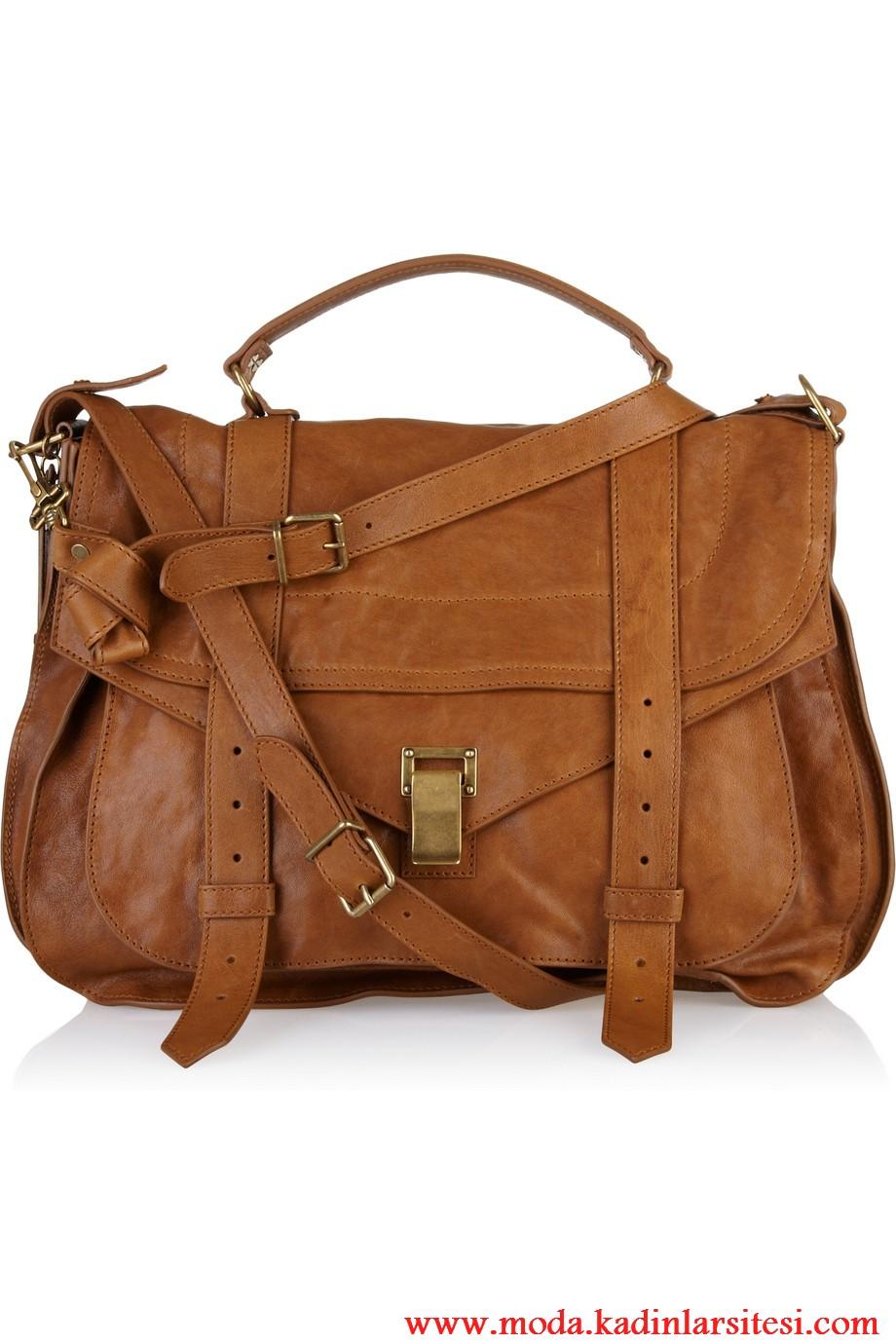 porenza schouler kahve omuz çantası modeli