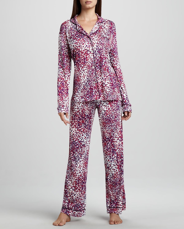 renkli çiçekli pijama takımı