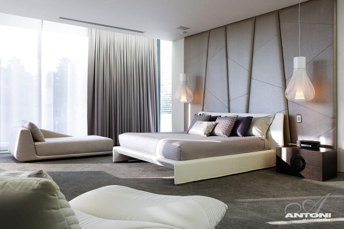 sade modern yatak odası modeli