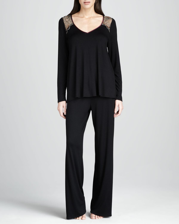 siyah bol kesim pijama takımı