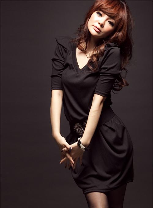 siyah elbisemodeli