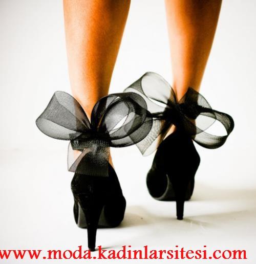 siyah fiyonklu ayakkabı modeli