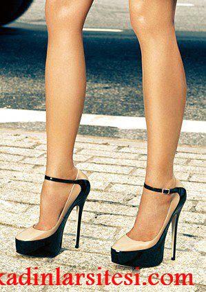 siyah krem ayakkabı modeli