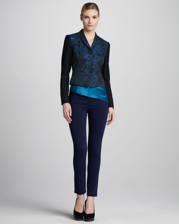 siyah mavi desenli ceket ve pantolon takımı