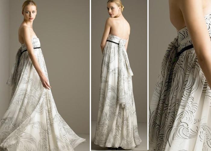 straplez hamile elbise modeli trend