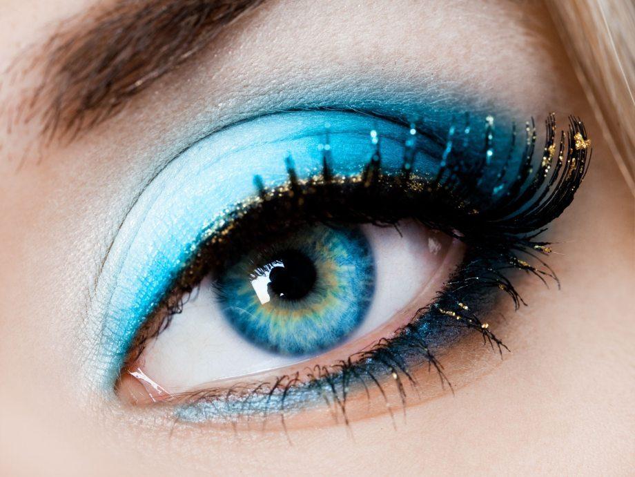 turkuaz göz makyajı