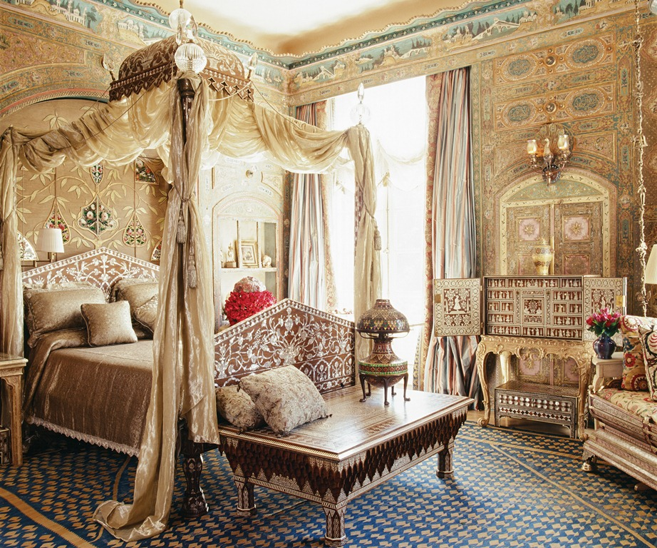 ultra lüx cibinlikli yatak odası modeli