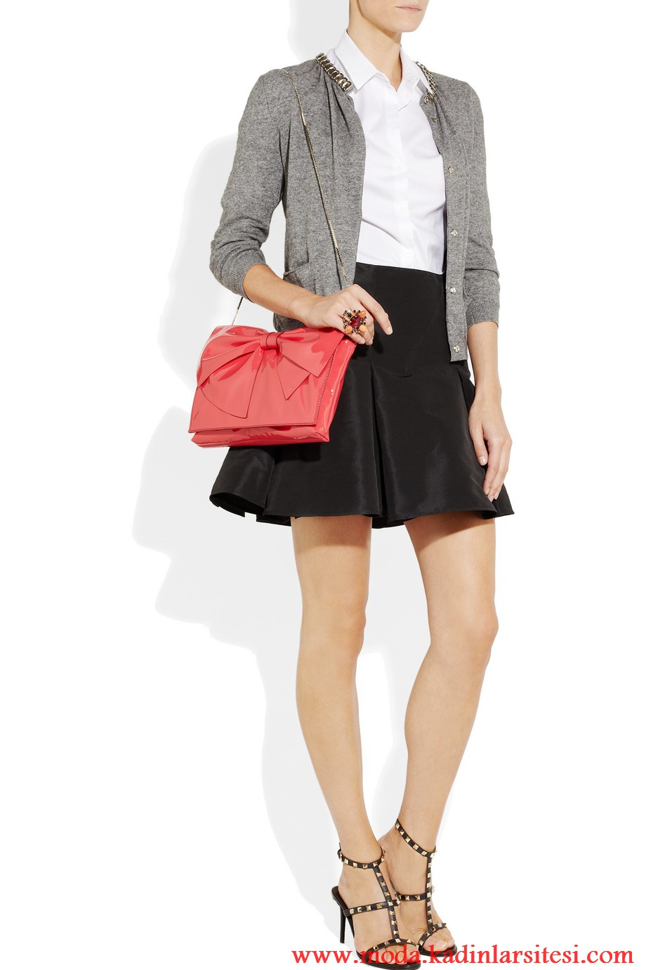 valentino bluz ve mini etek modeli
