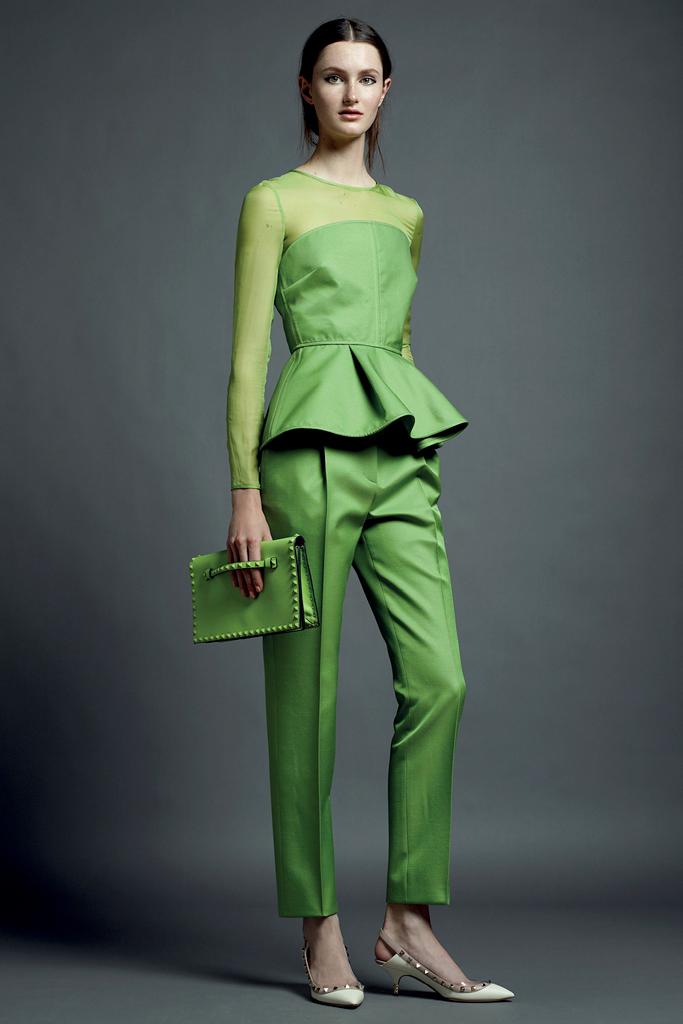 valentino yeşil pantolon takımı