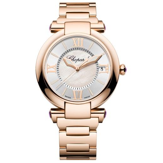 Chopard pembe altın saat modeli
