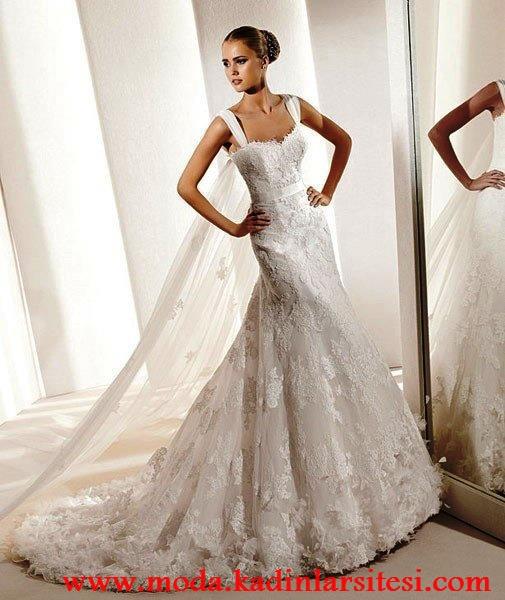 بند توری مدل لباس عروسی