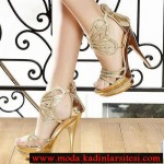 dore kelebek detaylı ayakkabı modeli