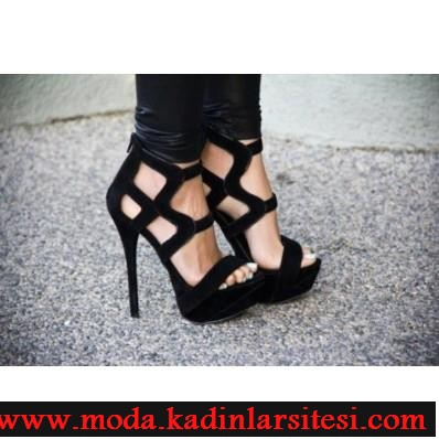 fermuarlı siyah kadife ayakkabı modeli
