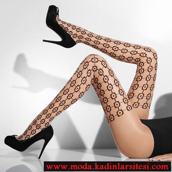 geometrik desenli mus çorap modeli