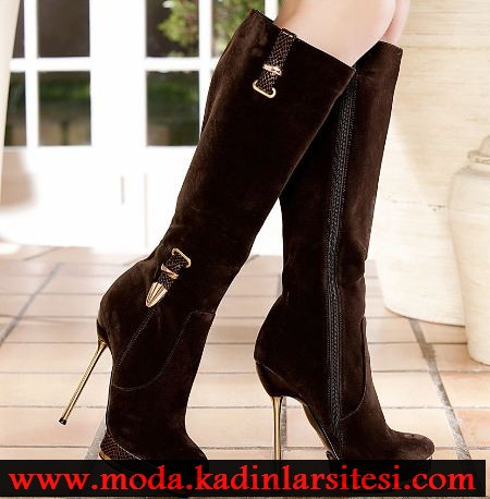 kahve rengi nubuk çizme modeli
