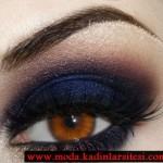 laci siyah göz makyajı modeli
