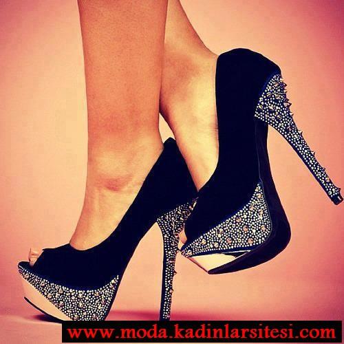 lacivert zımbalı ayakkabı modeli