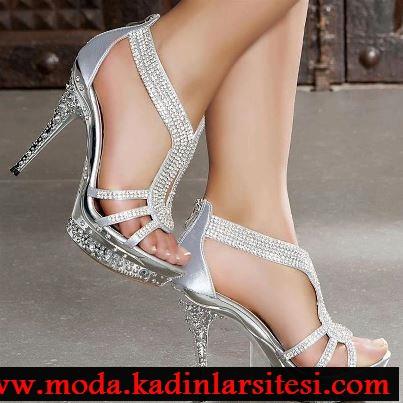 lame warovski ayakkabı modeli