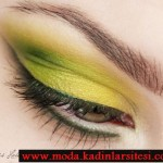 neon yeşil göz makyajı modeli