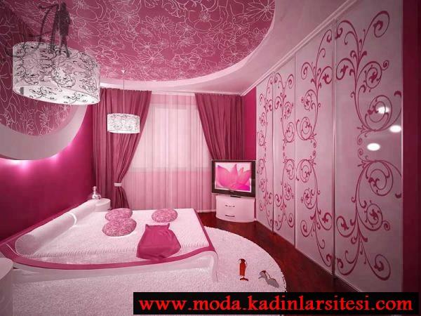 pembe yatak odası modeli