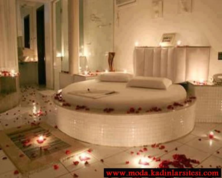 romantik yatak odası modeli