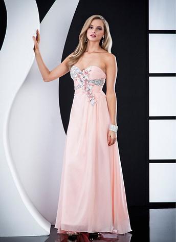 toz pembe bayan elbisesi modelleri