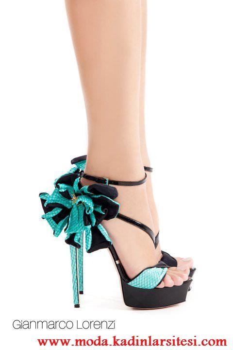 turkuaz siyah ayakkabı modeli