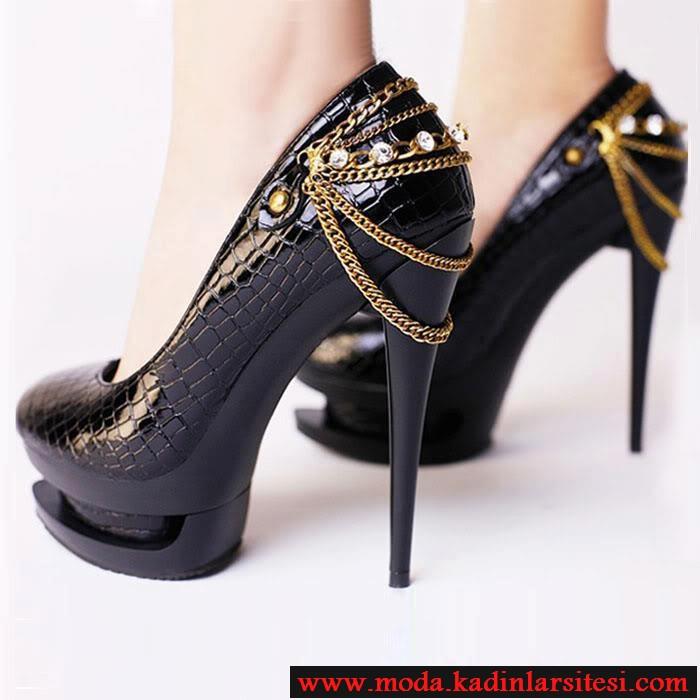yılan derisi siyah ayakkabı modeli