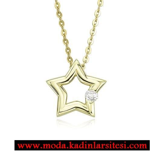 yıldız figürlü kolye ucu modeli