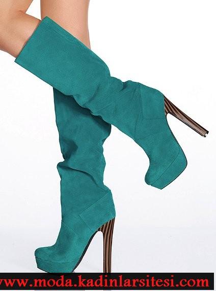 yeşil platformlu çizme modeli