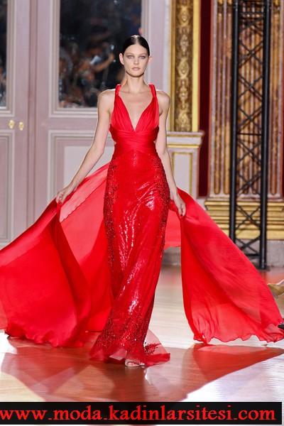 zuhair murad kırmızı abiye modeli