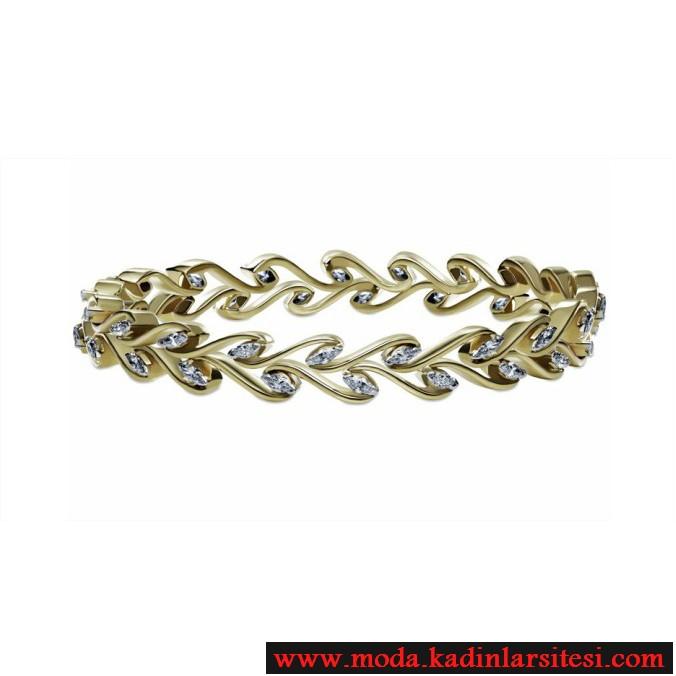 şık altın bilezik modeli
