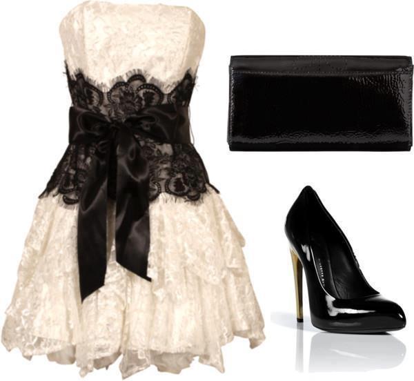 beyaz mini gece elbise kombin modeli