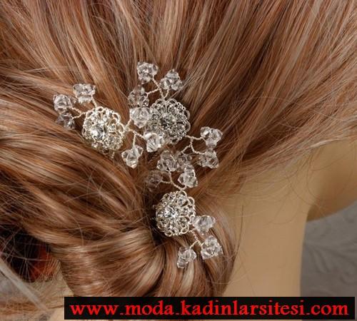 gümüş bükme saç aksesuar modeli