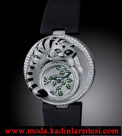hayvan figürlü pırlanta saat modeli