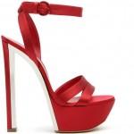 kırmızı saten stiletto modeli