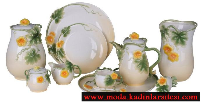 papatyalı çay takımı modeli