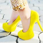 sarı bayan ayakkabı