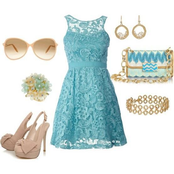 turkuaz mini elbise kombin modeli