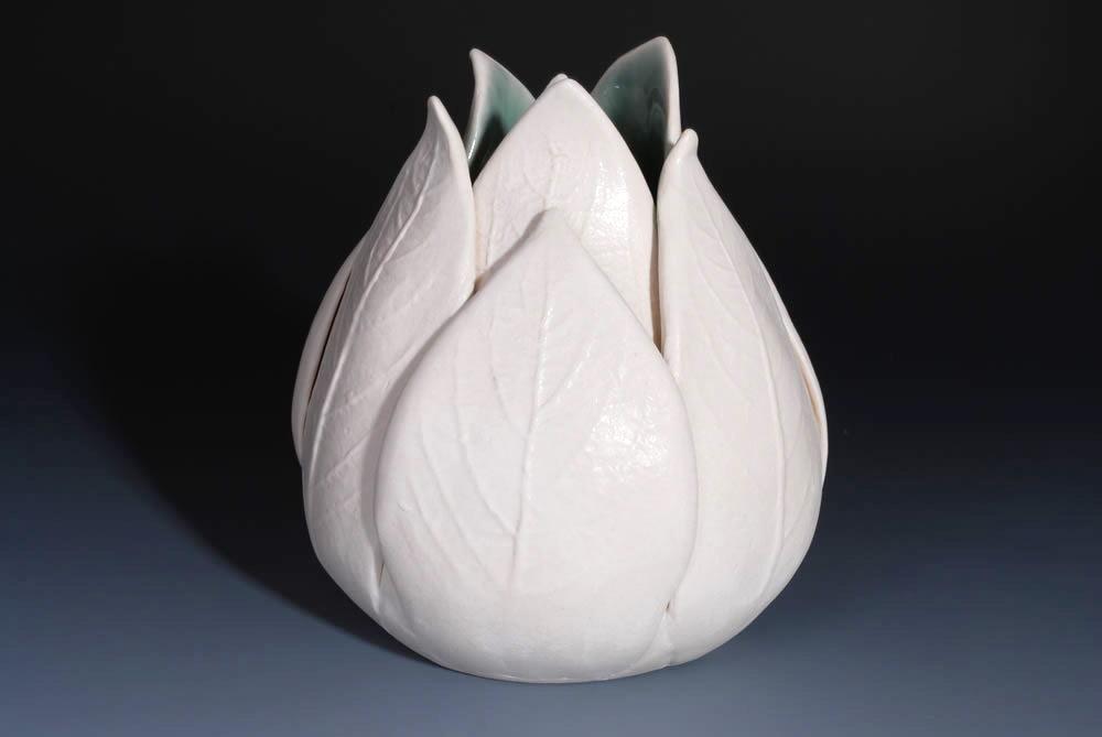lale figürlü dekoratif vazo modeli