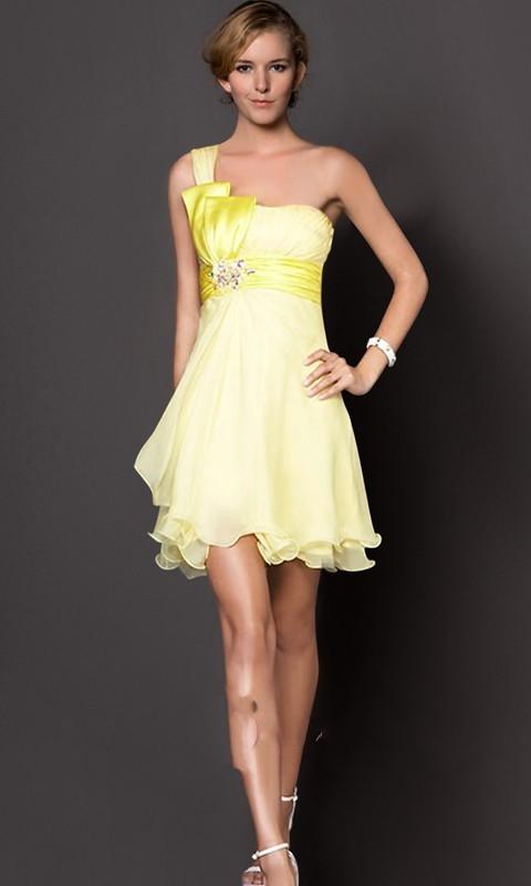 sarı gece elbise modeli